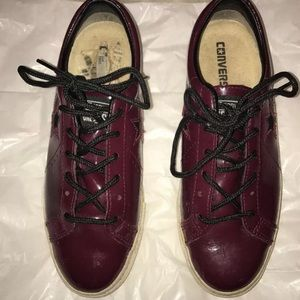 Converse One Star Burgundy Leather Sneakers Sz 6